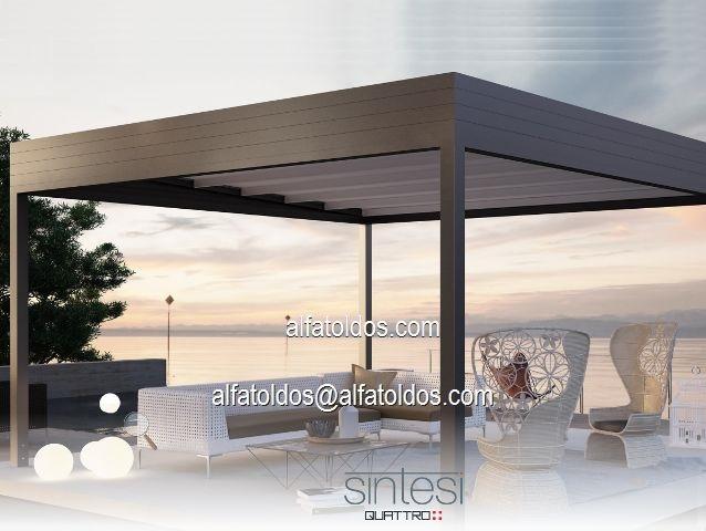 Pergola de aluminio estanca sintesi precio promocion for Pergolas aluminio precios