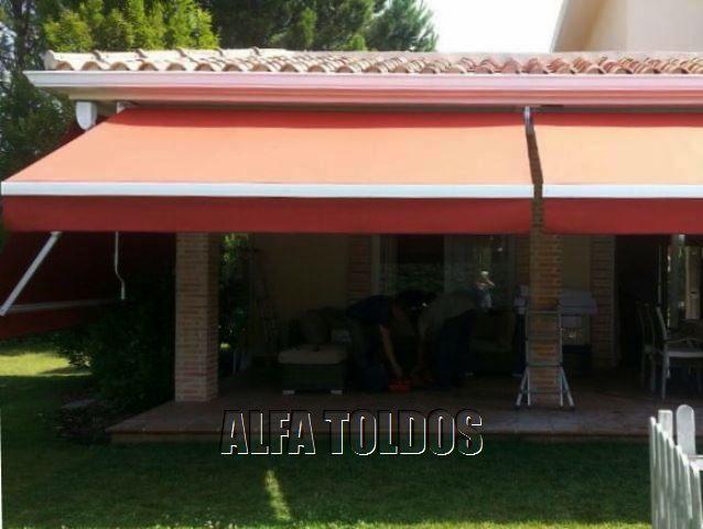 Precio de toldos para terraza top best instalacin de for Brazos para toldos precios