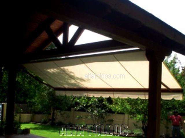 toldos en guadarrama madrid extensible sobre madera natural