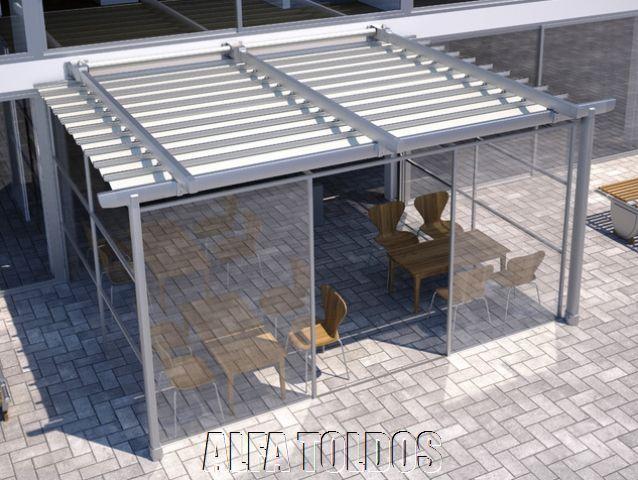Perfiles para pergolas de aluminio materiales de for Estructura de aluminio para toldo