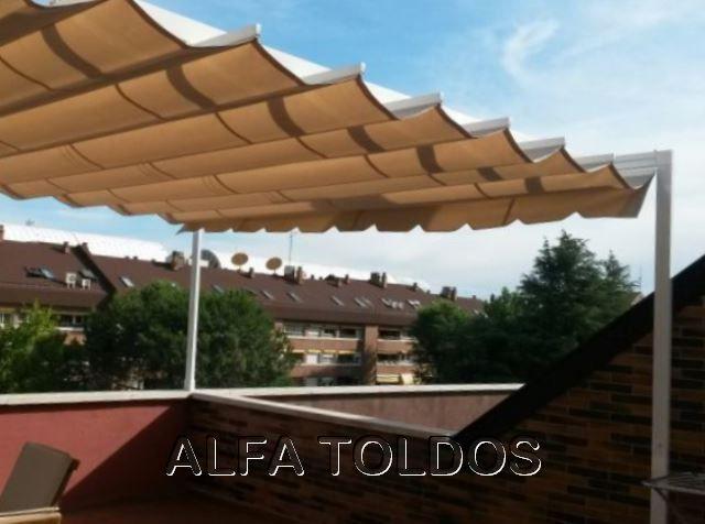 prgolas de aluminio para terraza de tico cambio de lona