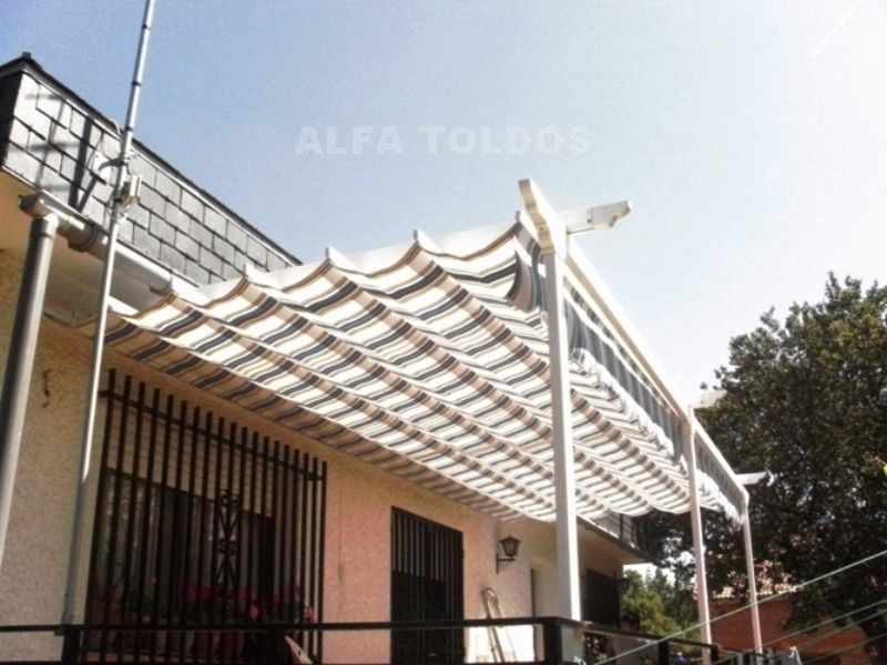 prgolas en alpedrete madrid instalacin para la terraza jardn fabricacin en aluminio y lona